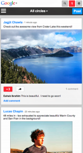 Google Plus - Redesign