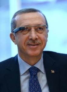 Recep Tayyip Erdoğan - Google Glass