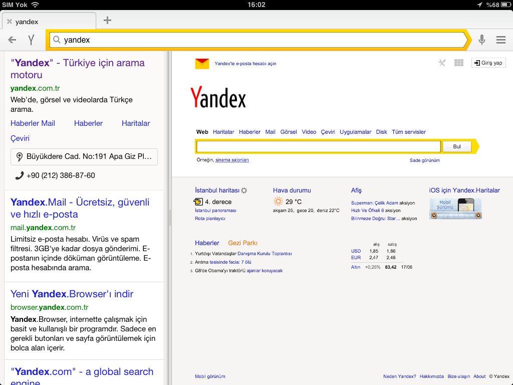 Yandex video yükleme 2