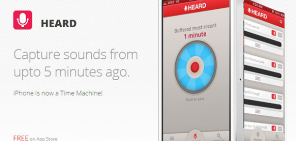 Yeni iPhone Uygulaması Heard ile Geçmişi Kaydedin