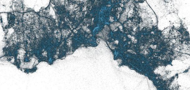 Twitter İstanbul'un Tweet Haritasını Yayınladı