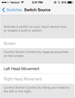 iOS 7 Erişebilirlik