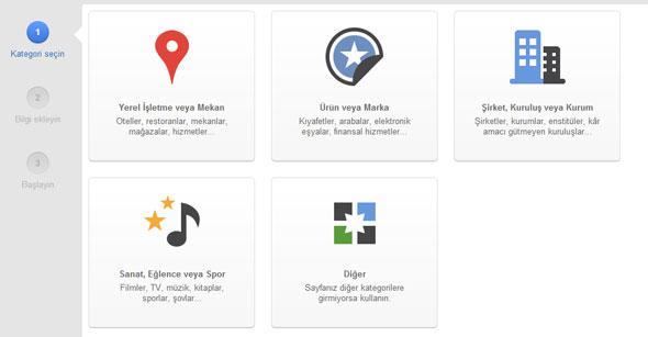 Google Sayfa Oluşturma