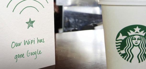 Google, Starbucks Şubelerine Ücretsiz İnternet Hizmeti Götürüyor