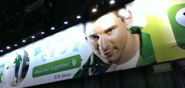 Mesajlaşma Uygulaması WeChat'i Messi Tanıtacak