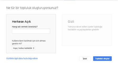 Google+ Topluluklar