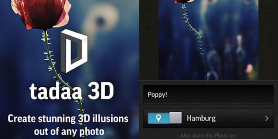 Instagram Alternatifi Tadaa 3D İle Fotoğraflarınızı Üç Boyutlu Yapın!