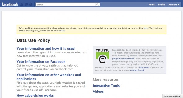 Facebook Gizlilik Şartları