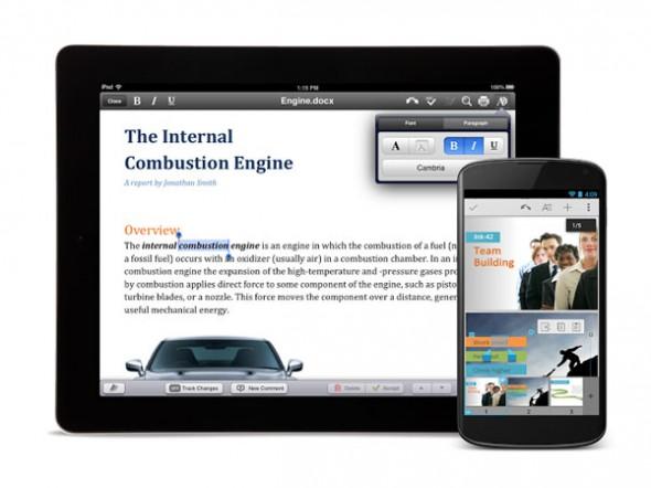 Quickoffice'in Android ve iOS Uygulamaları Artık Ücretsiz