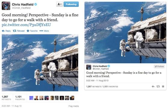Twitter Embed ve Web Görselleri Karşılaştırma