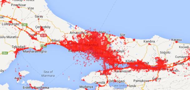Foursquare Check-in'leriyle Türkiye'nin Mekan Haritası
