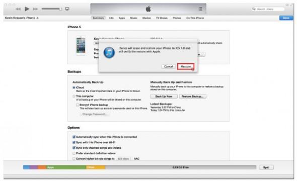 iOS 7 Yükleme