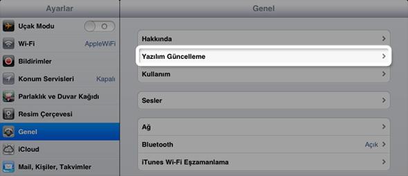 iPad Güncelleme