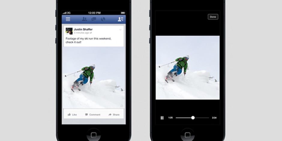 Facebook'ta Otomatik Açılan Video Dönemi Başladı
