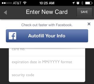 Facebook Autofill