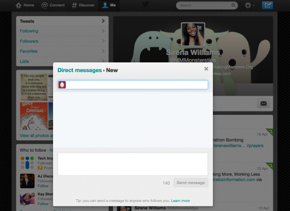 Twitter Direkt Mesajlar