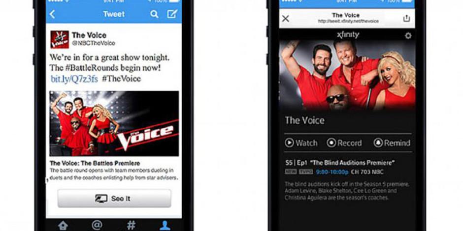 Comcast ve Twitter İşbirliğiyle Tweet Üzerinden TV İzleme Dönemi Başlıyor