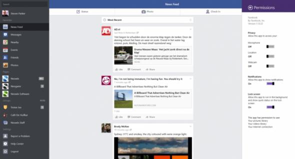 Windows Facebook