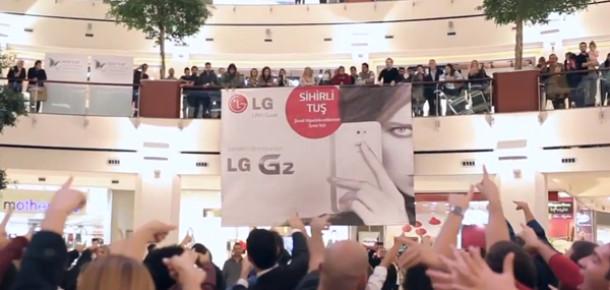 LG'den G2'nin Tanıtımı İçin Şaşırtan Flash Mob