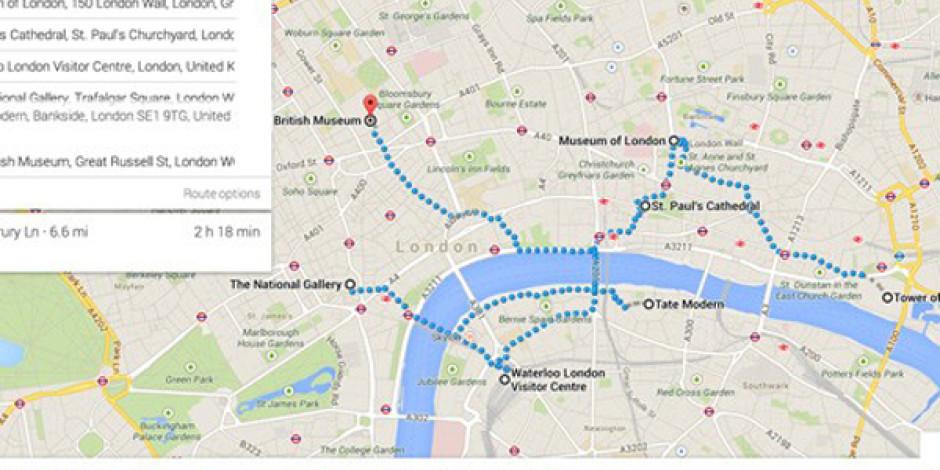 Google Maps'e Çoklu Rota ve Etkinlik Bilgisi Desteği