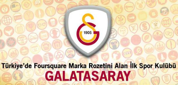 Galatasaray Foursquare Rozetini Taşıyan İlk Türk Spor Kulübü Oldu