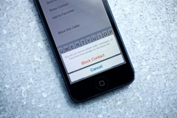 iOS 7 Numara Engelleme