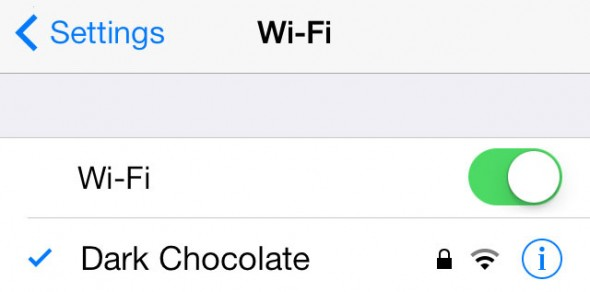 iOS 7 Wi-Fi