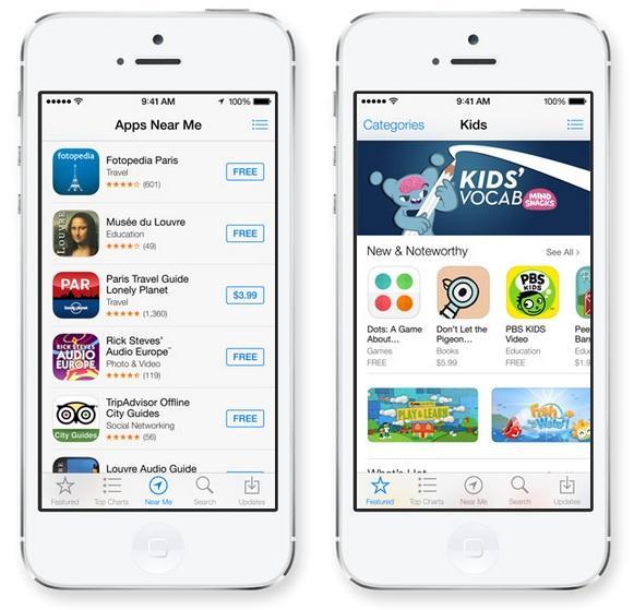 iOS 7 Yakındaki Uygulamalar
