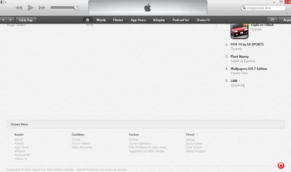 iTunes Ülke Değiştir