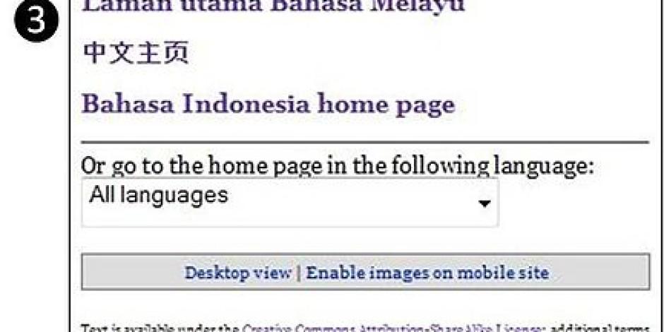 Wikipedia Ücretsiz SMS'lerle Çevrimdışı Hizmet Verecek