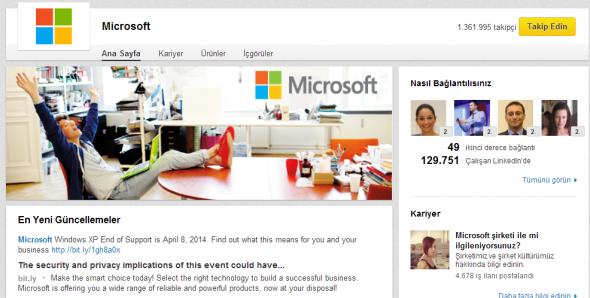 LinkedIn Şirket Sayfaları