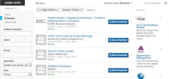 LinkedIn Arama