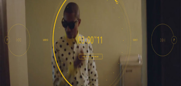 Pharrell Williams'dan 24 Saatlik İnteraktif Klip: Happy