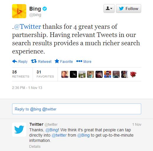 Twitter Bing