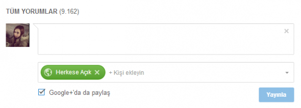 YouTube Yorum