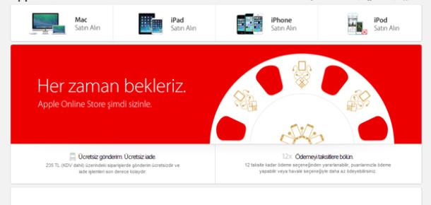 Apple, Türkiye İnternet Mağazasını Açtı