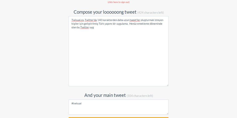 """Twisual.co: """"140 Karakter Bana Yetmez"""" Diyenler İçin Twitter Uygulaması"""