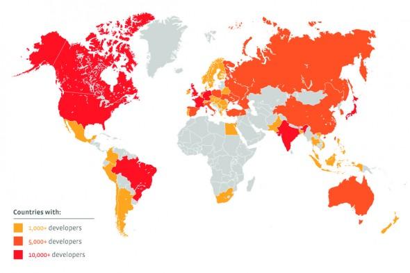 Facebook Geliştiriciler Haritası