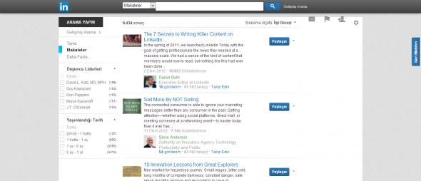 LinkedIn-Arama-Makaleler