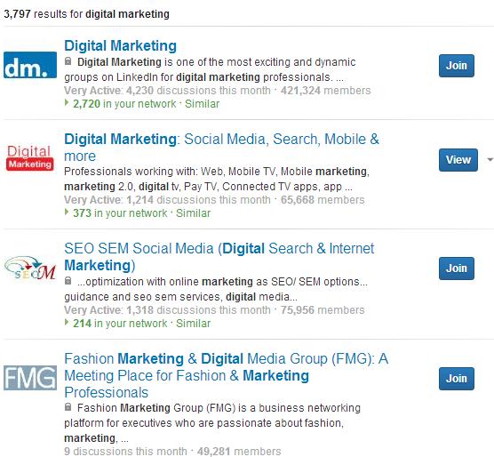 LinkedIn-Gruplar