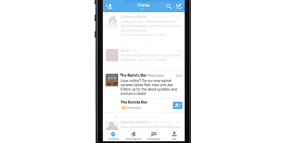 "Twitter'ın Ana Reklam Modellerinden ""Promoted Accounts"" Artık Mobilde"