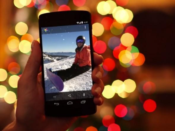 Google+ Android Cihazınızı Sallayın Fotoğraflarınıza Kar Yağsın