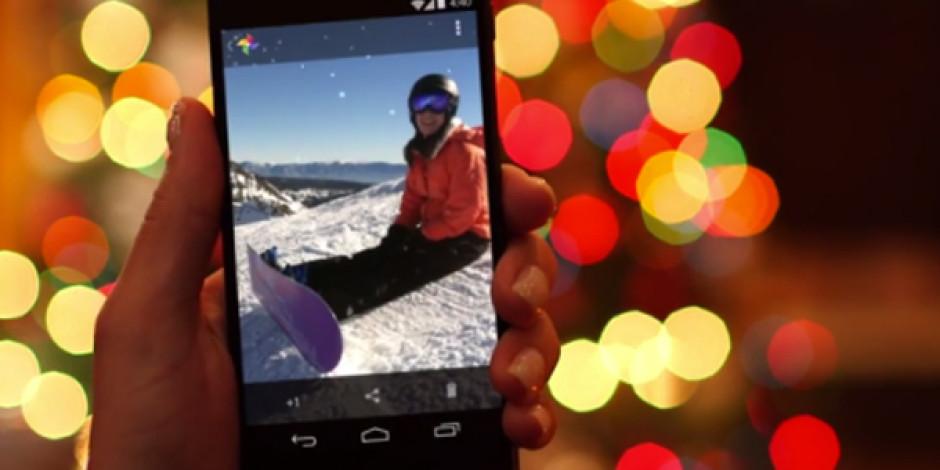 Google+ İle Android Cihazınızı Sallayın Fotoğraflarınıza Kar Yağsın