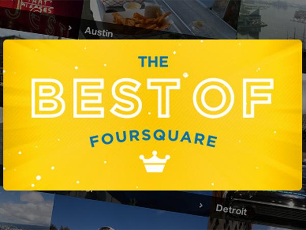 Foursquare 2013'ün En Beğenilen Mekanlarını Açıkladı