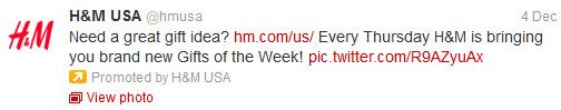 H&M Promosyonlu Tweet