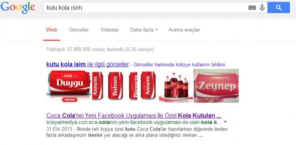 Kutu Kola İsim Google Arama
