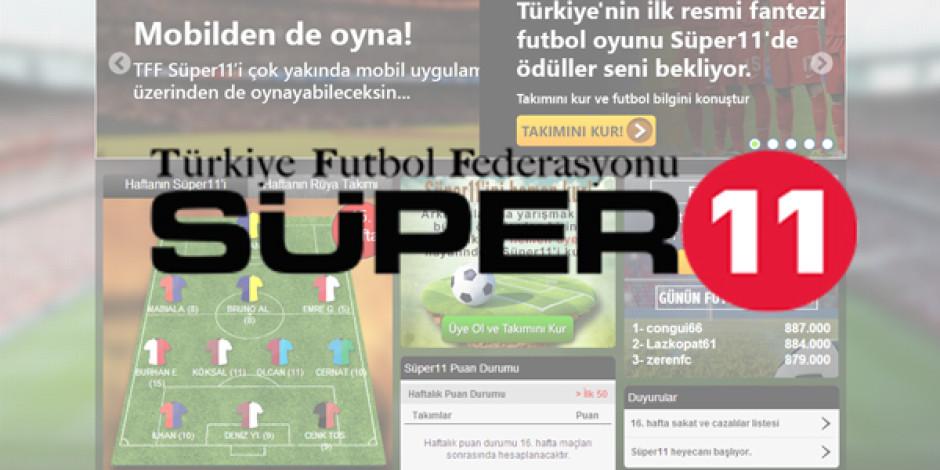 Turkcell ve TFF'den Fantezi Futbol Oyunu: Süper 11