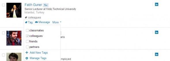 Etiketleme-LinkedIn