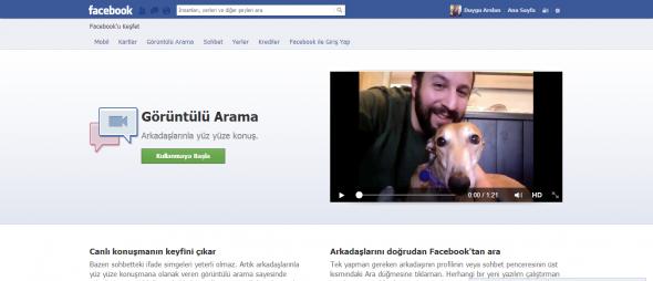Facebook Görüntülü Arama