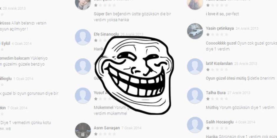 Türk Kullanıcıları Arasındaki 1 Yıldız Trendi Google Play'i Altüst Etti